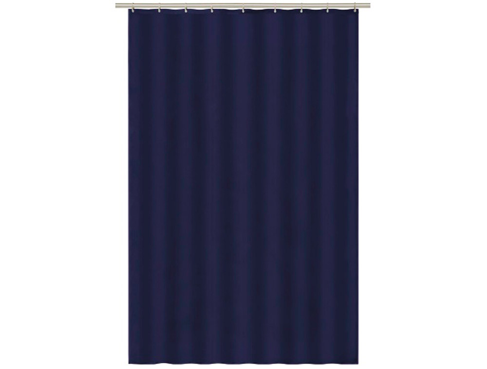 A271 Std Drip Dry Shower Curtain Navy Blue Dejay Distributors
