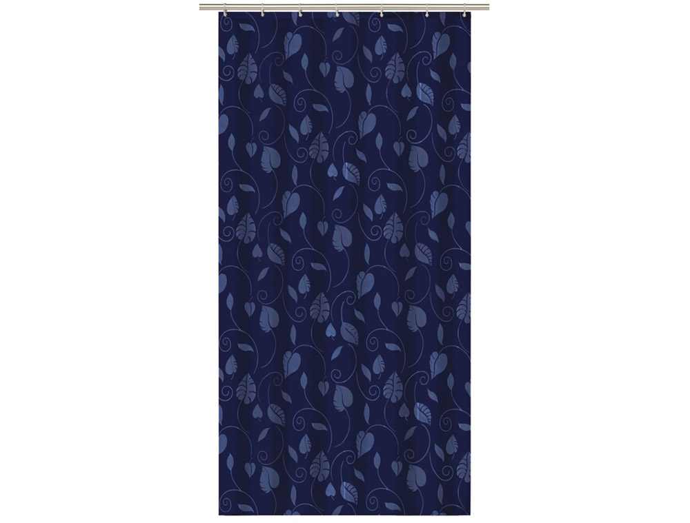 A279 Deluxe Shower Curtain Navy Blue Dejay Distributors