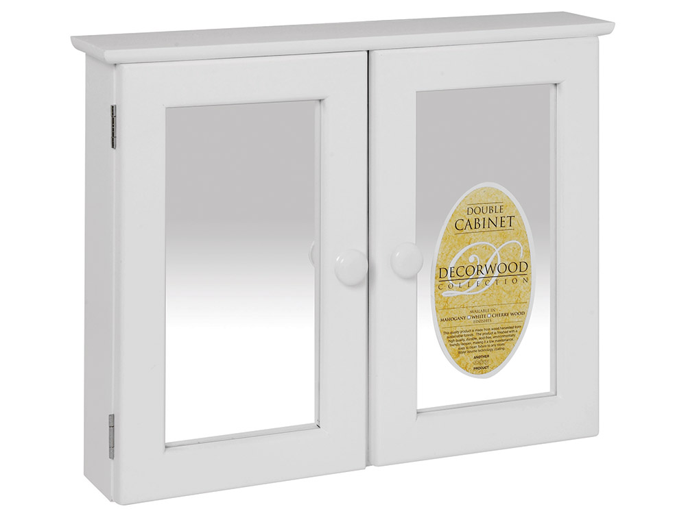 A312 bathroom cabinet double white dejay distributors for Bathroom cabinets co za